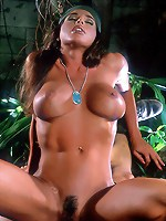 Jackie Carter gets her pussy drilled by a sniper in the jungle