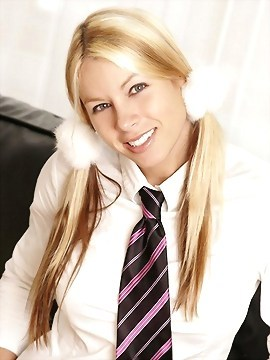Alexis In A Naughty School Girl Outfit